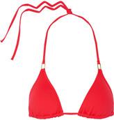 Melissa Odabash Cancun Triangle Bikini Top - Red