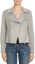 1 STATE 1.STATE Faux Suede Moto Jacket