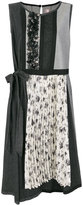 Antonio Marras floral applique sleeveless dress