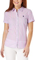U.S. Polo Assn. Lavender Gingham Short-Sleeve Button-Up