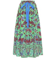 Givenchy Floral cotton maxi skirt