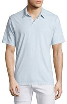 James Perse Short-Sleeve Cotton Jersey Polo Shirt, Light Blue