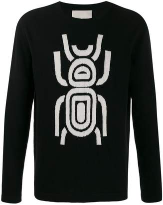 Frankie Morello regular-fit scarab jumper