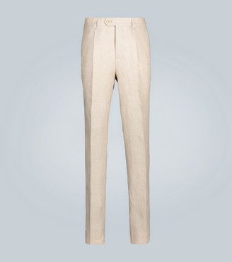 Brunello Cucinelli Straight-fit linen pants