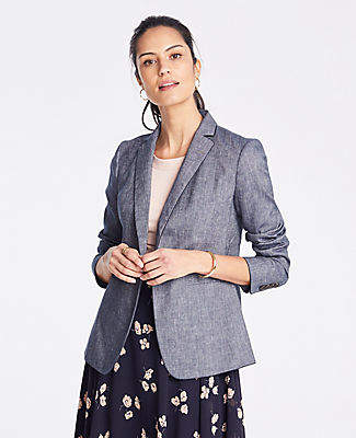 Ann Taylor The Hutton Blazer in Chambray