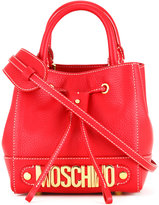 Moschino mini branded bag - women - Calf Leather - One Size