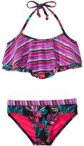 Roxy Girls' Pop Trop Two Piece Flutter Bikini Set (716) - 8147972