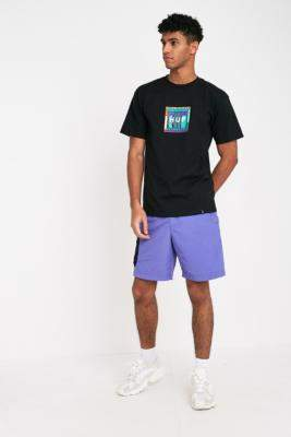 HUF Crosby Blue Iris Shorts - blue L at Urban Outfitters
