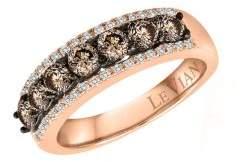 LeVian Le Vian Chocolatier Vanilla Diamonds, Chocolate Diamonds and 14K Strawberry Gold Ring