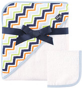 Hudson Baby Print Woven Hooded Towel and Washcloth