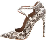 Tabitha Simmons Python Pointed-Toe Pumps