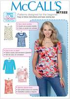 Mccall's M7322 Misses' Pullover Tops, ZZ (Large-X-Large-XX-Large)