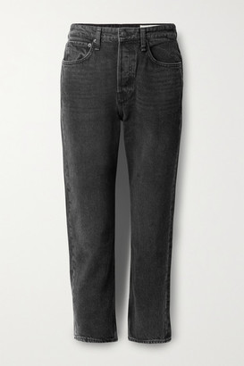 Rag & Bone Maya Cropped High-rise Straight-leg Jeans - Black