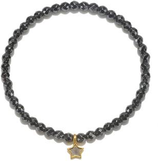 Satya Hematite & Two Tone Star Charm Stretch Bracelet