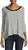 Bailey 44 Striped Dropped Shoulder Top