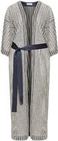 Hayley Hasselhoff for Elvi Plus Size Striped glitter effect kimono
