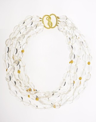Verdura Rock Crystal Bead Necklace