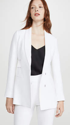Cushnie Shawl Collar Jacket with Double Charmeuse Band