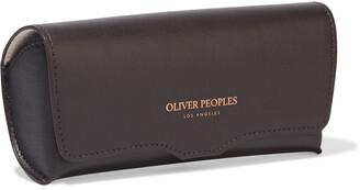 Oliver Peoples Saurine Rectangle-frame Acetate Sunglasses