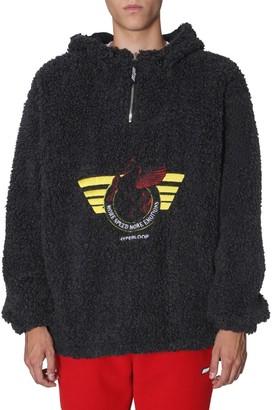 MSGM Oversize Shearing Hooded Fleece Jumper