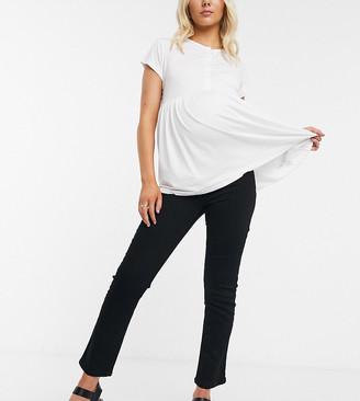 ASOS DESIGN Maternity high rise 'Sassy' cigarette jeans in black