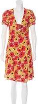 Saint Laurent Printed V-Neck Dress