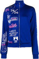 Filles a papa printed track jacket with popper sleeves