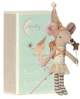 Infant Maileg Girl Tooth Fairy Mouse Stuffed Animal In Box