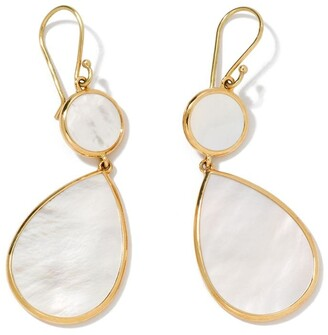 Ippolita 18kt yellow gold Polished Rock Candy Snowman mother-of-pearl drop earrings