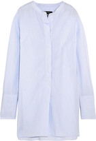 Isabel Marant Louis Striped Cotton-poplin Tunic - Sky blue