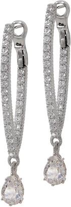 Judith Ripka Sterling or 14K Clad Diamonique Inside Out Drop Earrings
