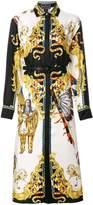 Versace Native American baroque shirt dress