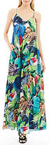 Nicole Miller New York Palm-Print Maxi Dress