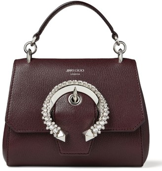 Jimmy Choo Small Leather Madeline Top-Handle Bag