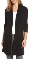 Women's Halogen Rib Knit Wool & Cashmere Cardigan