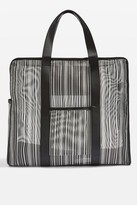 Topshop LUNA Stripe Luggage Bag