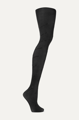 Balenciaga Flocked Tights - Black