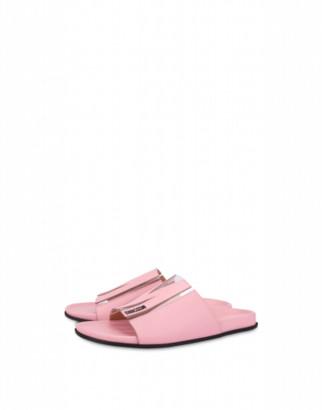 Moschino M Flat Sandals Woman Pink Size 35 It - (5 Us)