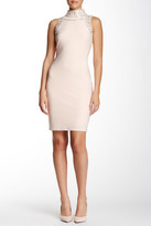 Marina Sleeveless & Beaded Jersey Sheath Dress