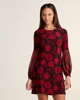 Tommy Hilfiger Petite Tie-Cuff Floral Print Shift Dress