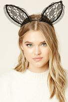 Forever 21 FOREVER 21+ Lace Bunny Ear Headband