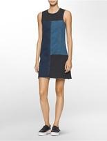 Calvin Klein Denim Colorblock Dress