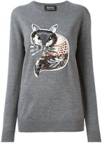Markus Lupfer sequin-fox detail sweater