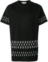 Les Benjamins printed hem T-shirt