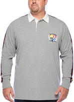 The Foundry Supply Co. The Foundry Big & Tall Supply Co. Mens Henley Neck Long Sleeve Rugby Shirt, 2x-large , Gray