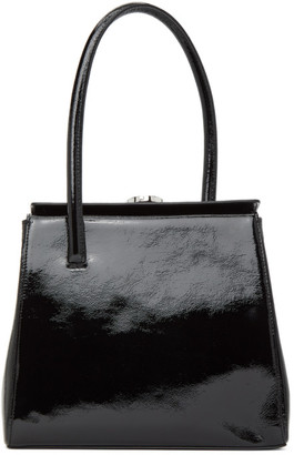 Little Liffner Black Naplak Patent Madame Bag