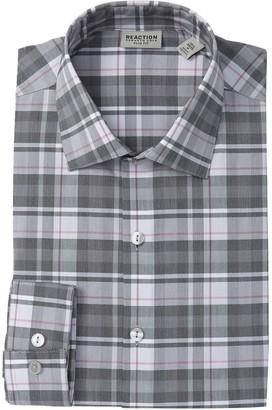 Kenneth Cole Reaction Windowpane Techni-Cole Flex Slim-Fit Dress Shirt