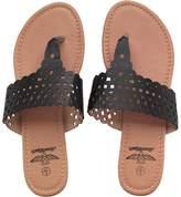 Board Angels Womens Metallic Toe Post Sandals Black