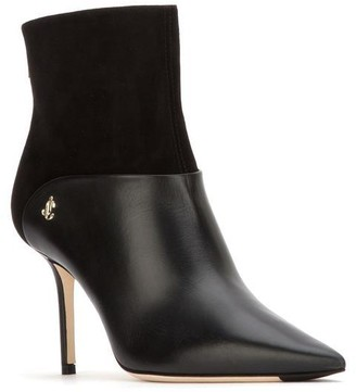 Jimmy Choo Beyla 85 Pointed Toe Ankle Boots