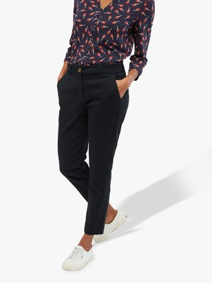 White Stuff Sussex 7/8 Stretch Trousers, Charcoal Plain